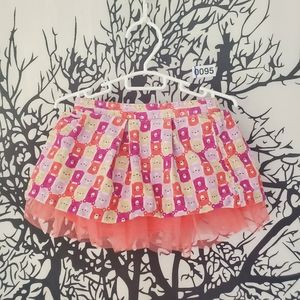 4/$25 Pink Bear Mini Skirt Tulle Underneath 18-24m